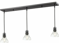 Z-Lite 322-8MP-3BRZ Forge Contemporary Bronze Clear Multi Ceiling Light Pendant