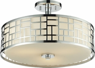 Z-Lite 328-SF16-CH Elea Chrome16.25  Wide Ceiling Lighting Fixture