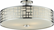 Z-Lite 328-SF20-CH Elea Chrome10.5  Tall Ceiling Light Fixture