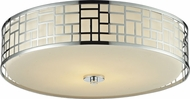 Z-Lite 328F20-CH Elea Chrome6.5  Tall Ceiling Light Fixture