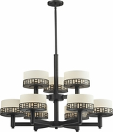 Z-Lite 329-9-BRZ Elea Bronze 22.75  Tall Chandelier Light