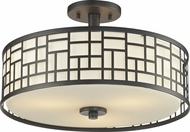 Z-Lite 329-SF16-BRZ Elea Bronze 10.25  Tall Flush Mount Light Fixture