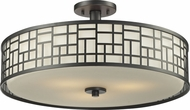 Z-Lite 329-SF20-BRZ Elea Bronze 20.5  Wide Flush Mount Lighting Fixture