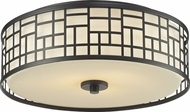 Z-Lite 329F16-BRZ Elea Bronze 6.25  Tall Flush Mount Lighting