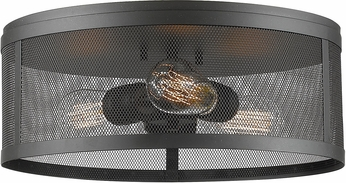 Z-Lite 331F14-BRZ Meshsmith Modern Bronze 14  Flush Mount Lighting