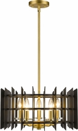 Z-Lite 338-18MB-SBR Haake Contemporary Satin Brass 17  Drop Ceiling Light Fixture