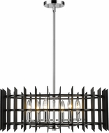 Z-Lite 338-24MB-CH Haake Modern Chrome 24  Drop Lighting Fixture