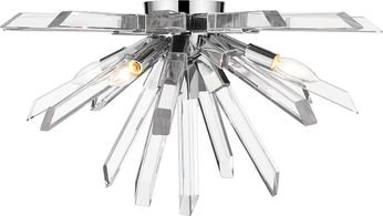 Z-Lite 4003-F-CH Burst Chrome Ceiling Lighting Fixture