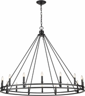Z-Lite 4005-16MB Dennison Traditional Matte Black Chandelier Lamp