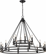 Z-Lite 4005-18MB Dennison Traditional Matte Black Chandelier Light