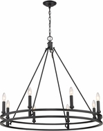 Z-Lite 4005-8MB Dennison Traditional Matte Black Hanging Chandelier