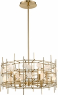 Z-Lite 4007-24AGBR Garroway Aged Brass Mini Chandelier Light