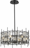 Z-Lite 4007-24MB Garroway Matte Black Mini Chandelier Lighting