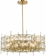 Z-Lite 4007-32AGBR Garroway Aged Brass Lighting Chandelier