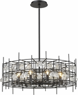 Z-Lite 4007-32MB Garroway Matte Black Chandelier Lamp