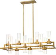 Z-Lite 4008-10RB Datus Contemporary Rubbed Brass Exterior Kitchen Island Lighting