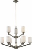 Z-Lite 410-9 Montego Brushed Nickel 31.125  Wide Chandelier Light
