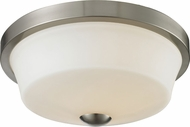 Z-Lite 410F2 Montego Brushed Nickel 5.75  Tall Flush Ceiling Light Fixture
