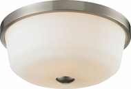 Z-Lite 410F3 Montego Brushed Nickel 17.75  Wide Flush Mount Ceiling Light Fixture