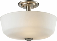 Z-Lite 410SF3 Montego Brushed Nickel 10.375  Tall Overhead Light Fixture