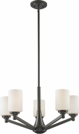 Z-Lite 411-5 Montego Coppery Bronze 61.75  Tall Lighting Chandelier