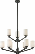 Z-Lite 411-9 Montego Coppery Bronze 67.75  Tall Chandelier Lamp