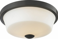Z-Lite 411F2 Montego Coppery Bronze 13.375  Wide Overhead Lighting Fixture