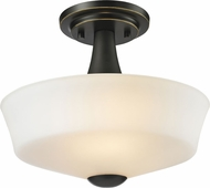Z-Lite 411SF2 Montego Coppery Bronze 9.75  Tall Ceiling Light