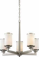 Z-Lite 412-5 Savannah Brushed Nickel 22  Tall Chandelier Light