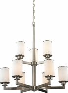 Z-Lite 412-9 Savannah Brushed Nickel 32.875  Tall Hanging Chandelier