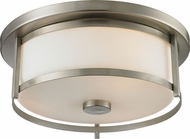 Z-Lite 412F14 Savannah Brushed Nickel 4.875  Tall Ceiling Light Fixture