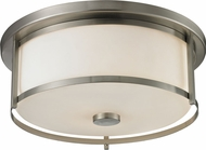 Z-Lite 412F16 Savannah Brushed Nickel 15.75  Wide Flush Lighting