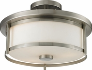 Z-Lite 412SF14 Savannah Brushed Nickel 13.75  Wide Flush Mount Lighting