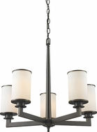 Z-Lite 413-5 Savannah Olde Bronze 23.875  Wide Chandelier Light