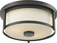 Z-Lite 413F11 Savannah Olde Bronze 5  Tall Flush Mount Light Fixture