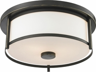 Z-Lite 413F14 Savannah Olde Bronze 13.75  Wide Flush Mount Lighting Fixture