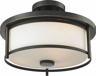 Z-Lite 413SF14 Savannah Olde Bronze 9.75  Tall Flush Mount Ceiling Light Fixture