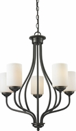 Z-Lite 414-5 Cardinal Olde Bronze 23  Wide Mini Chandelier Lamp