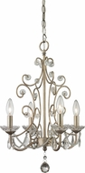 Z-Lite 420AS Princess Chandeliers Traditional Antique Silver 21.625  Tall Mini Lighting Chandelier