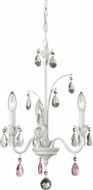 Z-Lite 422MW Princess Chandeliers Traditional Matte White 21.125  Tall Mini Chandelier Light