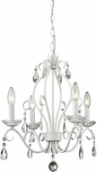 Z-Lite 423MW Princess Chandeliers Traditional Matte White 17.125  Wide Mini Ceiling Chandelier