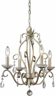 Z-Lite 424AS Princess Chandeliers Traditional Antique Silver 20.625  Tall Mini Hanging Chandelier
