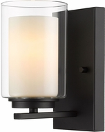 Z-Lite 426-1S-MB Willow Modern Matte Black Wall Lighting