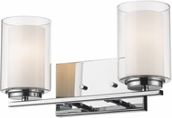 Z-Lite 426-2V-CH Willow Chrome 2-Light Bathroom Sconce