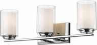 Z-Lite 426-3V-CH Willow Chrome 3-Light Bath Sconce