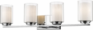 Z-Lite 426-4V-CH Willow Chrome 4-Light Vanity Light Fixture