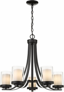 Z-Lite 426-5-MB Willow Contemporary Matte Black 25  Ceiling Chandelier