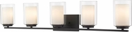 Z-Lite 426-5V-MB Willow Contemporary Matte Black 5-Light Bathroom Sconce