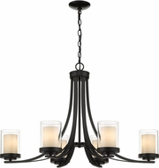 Z-Lite 426-6-MB Willow Modern Matte Black 35  Hanging Chandelier