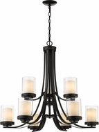 Z-Lite 426-9-MB Willow Modern Matte Black Chandelier Light